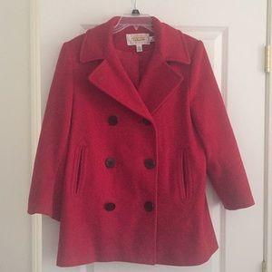 Talbots wool Pea coat size 6 Petite